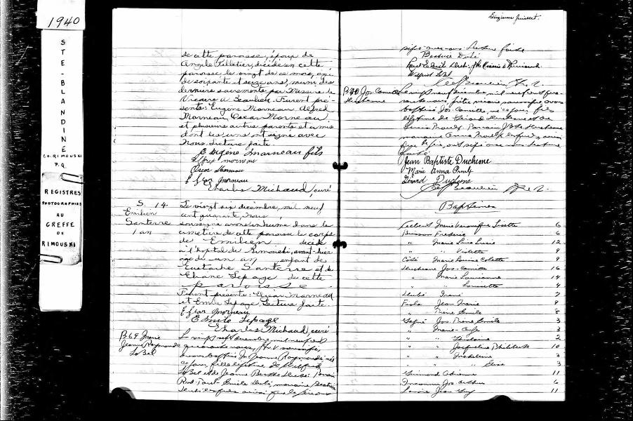 Acte de décès de Eugène Morneau, 1940, (Page 2 de 2)